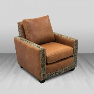 cowhide western furniture living room accent chair jaxon style