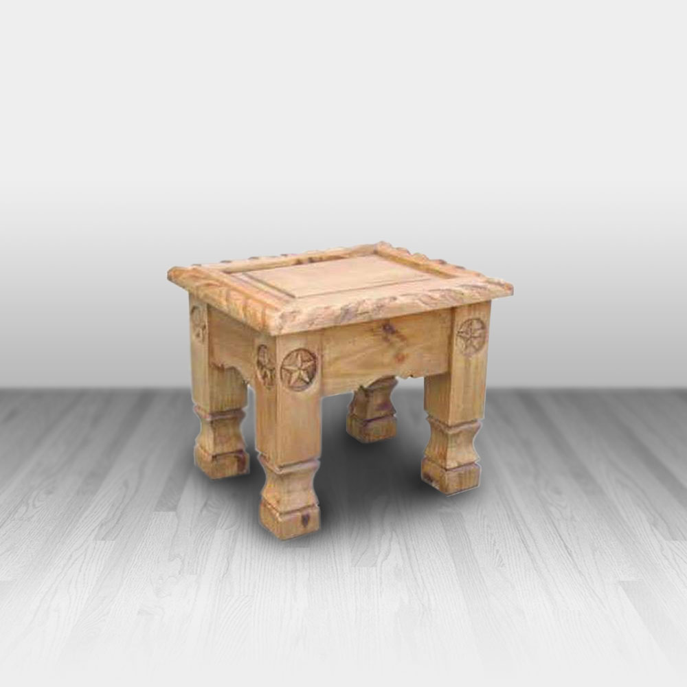 Rope End Table With Stars