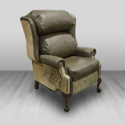 Recliner Wing Bustleback Cowhide Western Furniture