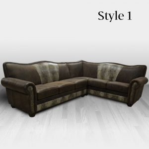 cowhide western furniture living room sectional sofa old west style 1