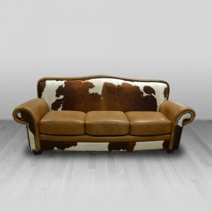 cowhide western furniture living room sofa adobe style