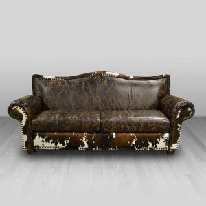 cowhide western furniture living room sofa cheyenne style