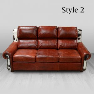 cowhide western furniture living room sofa adobe style 2