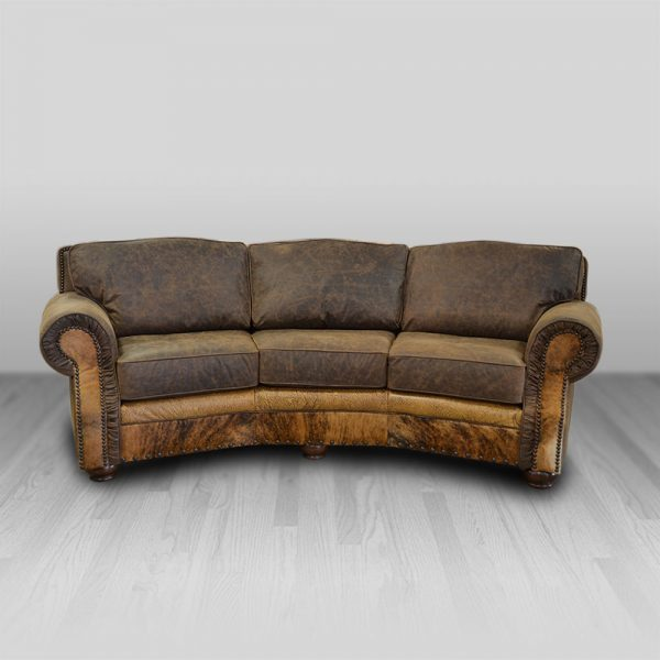 Victoria Theater Curved Sofa Cowhide Western Furniture