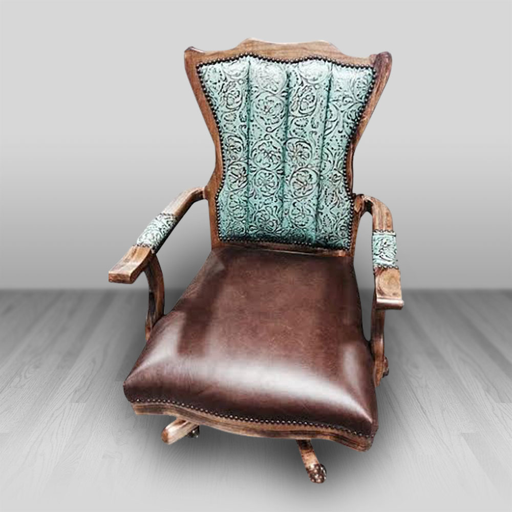 Emma Lou Executive Chair Cowhide Western Furniture