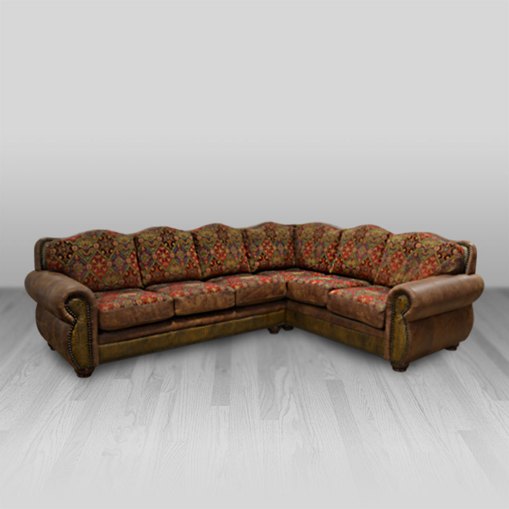 Amarillo Sectional Cowhide Western Furniture