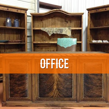 cowhide western furniture office category