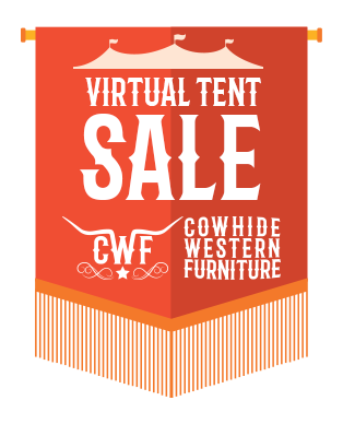 cowhide western furniture virtual tent clearance spring sale 2019