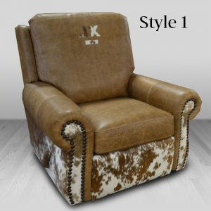 cowhide western furniture living room recliner rodeo style 1