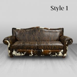 cowhide western furniture living room sofa cheyenne style 1