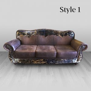 cowhide western furniture living room sofa emma style 1