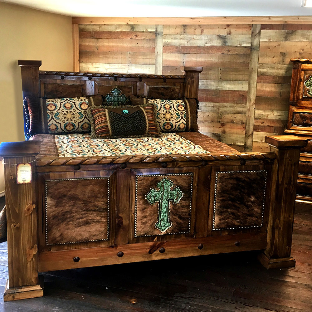 Indian Bed With Rope & Cross Bedroom Group