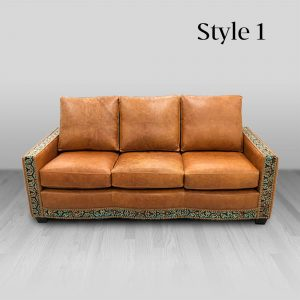 cowhide western furniture living room sofa adobe style 1