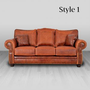 cowhide western furniture living room sofa kennedy style 1