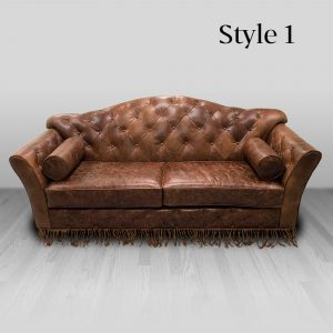 cowhide western furniture living room sofa maestro style 1