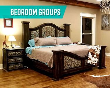 cowhide western furniture bedroom groups sets category