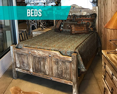 cowhide western furniture beds category