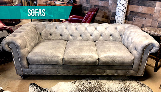Rustic Leather Living Room Furniture Sets USA - Cowhide ...