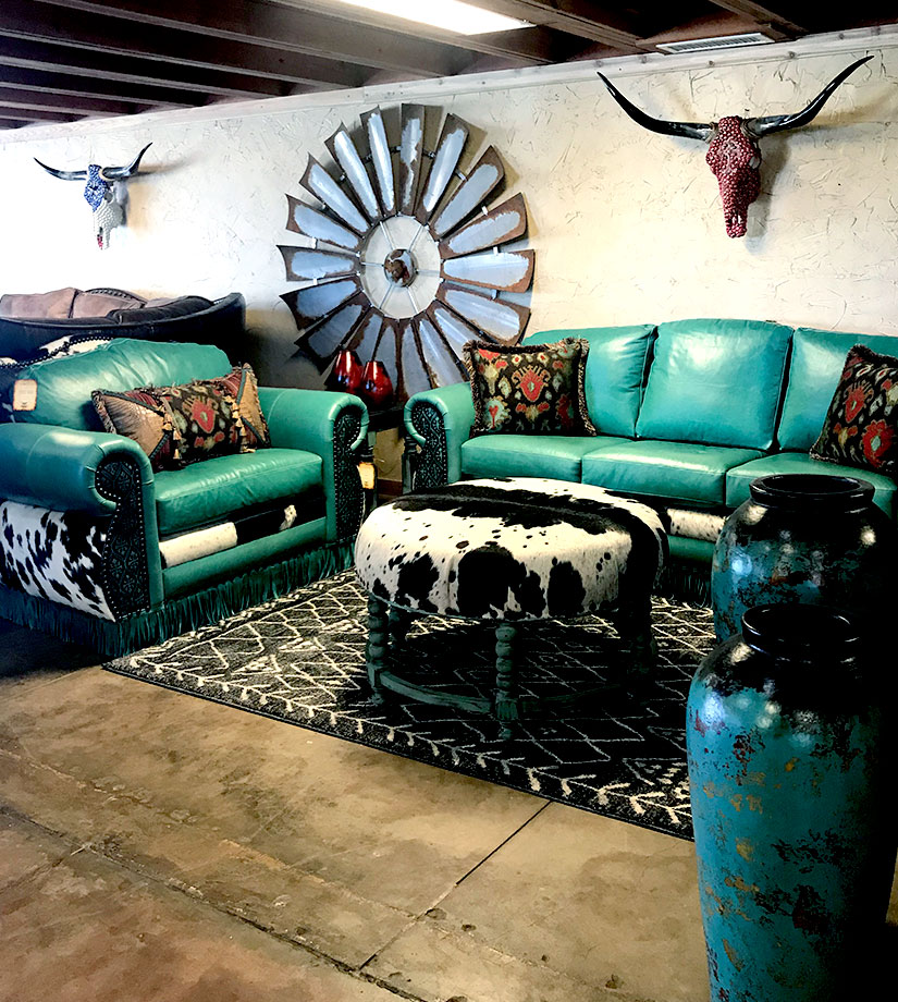 Western Style Living Room Furniture Stores Dallas Texas Cowhide Western Furniture