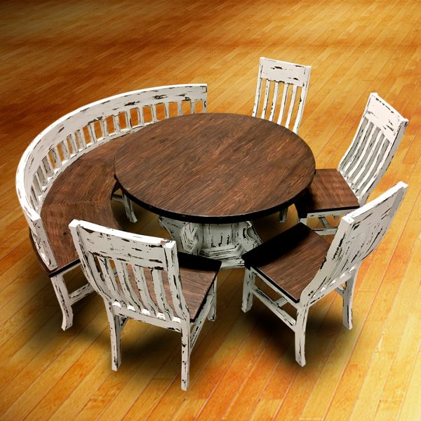 curved bench with