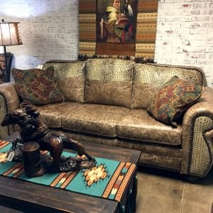 cowhide western furniture waltz sofa floor sample