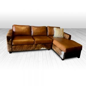 cowhide western furniture downtown cowboy sectional floor sample product
